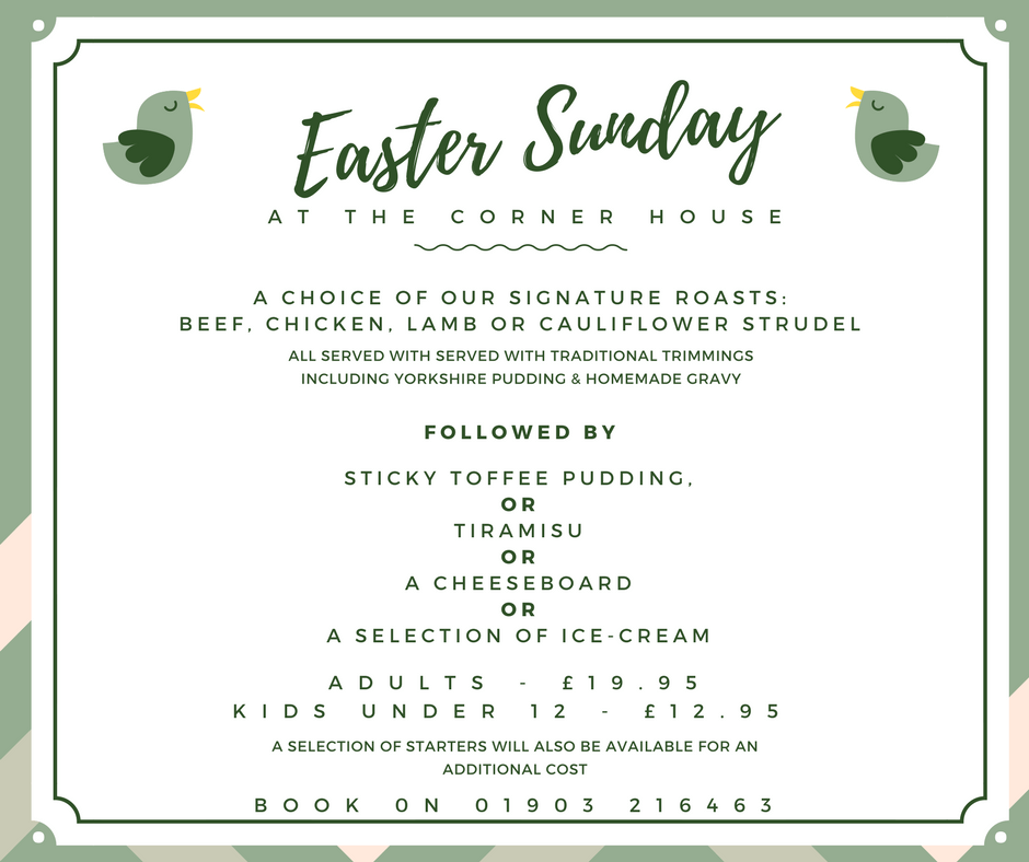 easter sunday lunch in Worthing